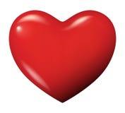 Perfecte rode geïsoleerdem hartvector Stock Foto's