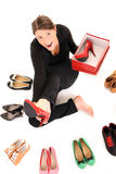 Perfecte schoenen? Stock Fotografie