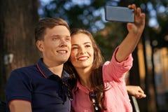 Perfecte selfie Stock Afbeeldingen