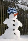 Perfecte sneeuwman royalty-vrije stock foto