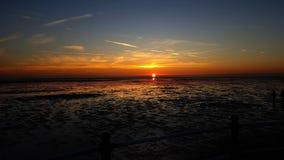 Perfecte tijd voor een zonsondergangfoto Royalty-vrije Stock Fotografie