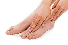 Perfecte voeten royalty-vrije stock foto's
