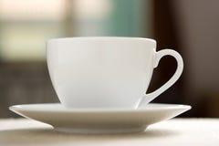 Perfecte witte koffiekop Stock Foto