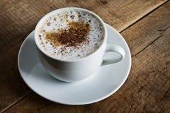 Perfecte witte koffiekop Stock Afbeelding