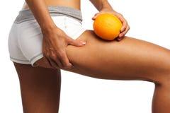 Perfecte womansbedelaar en benen Stock Afbeelding