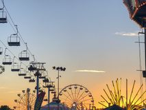 Perfecte Zonsondergangmening in Cal Expo Fair royalty-vrije stock fotografie