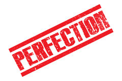 Perfection stamp Stock Images