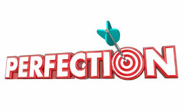 Perfection Total Full Accuracy Correct Complete Arrow Target. 3d Illustration Royalty Free Stock Photo