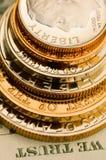 Perfectionnez la devise américaine uncirculated image stock