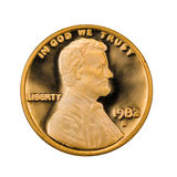 Perfectionnez uncirculated une pièce de monnaie de cent Photos libres de droits