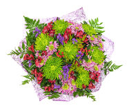 Perfectly bouquet of orchids and chrysanthemums Stock Photography