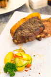 Perfectly cooked steak chorizo with thick fat Royalty Free Stock Images