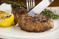 Perfectly cooked steak Royalty Free Stock Photography