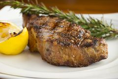 Perfectly cooked steak Royalty Free Stock Photo