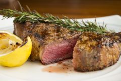 Perfectly cooked steak Stock Images