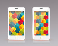 Perfectly detailed modern smart phone, mobile interface wallpape Royalty Free Stock Photography