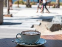 Perfectly formed coffee. At a restaurant in la Mer Beach resort, Dubai stock images