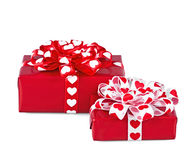 Perfectly packed two gifts Royalty Free Stock Images