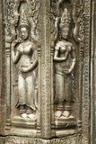 Devata Carvings, Ta Prohm temple, Angkor Wat, Cambodia Stock Photo