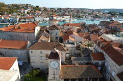 The medieval town of Trogir in Croatia. stock photography