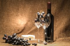 Perfectly red wine stock photo