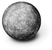 Perfectly Round Ball Shaped Stone On White Stock Photography