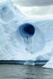 Round Hole in Glacier Stock Photos