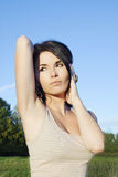 Perfectly shaved armpits Royalty Free Stock Images
