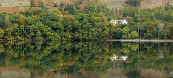 Lovely reflections at Lake Buttermere, Lake District royalty free stock image