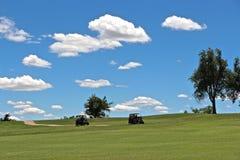 Perfekt golfdag för bild Arkivbilder