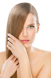 Perfekt hår Fotografering för Bildbyråer