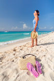 perfekt hav för karibisk ferie Fotografering för Bildbyråer