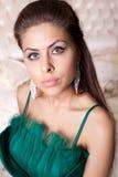 perfekt kvinna för härlig makeup Fotografering för Bildbyråer