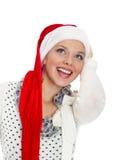 perfekt leende för julflicka royaltyfria bilder