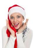 perfekt leende för julflicka Royaltyfri Bild