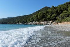 Perfekt natual strand Arkivbilder