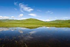 perfekt reflexionsvatten för liggande arkivbilder
