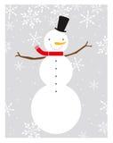 perfekt snowman Arkivbild