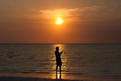 perfekt solnedgång fotografering för bildbyråer