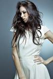 perfekt ståendekvinna för härligt hår Royaltyfri Foto