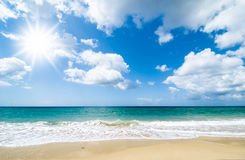 perfekt strand Royaltyfria Foton