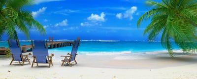 perfekt strand Royaltyfri Bild