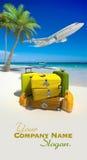 Perfekt strandsemester Arkivfoton