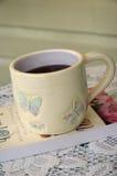 perfekt tea för 2 kopp Arkivbild