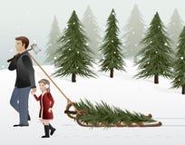 perfekt tree stock illustrationer