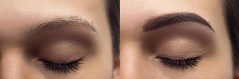 Perfekta ögonbryn för After Royaltyfria Foton