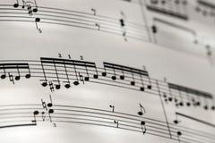 Perfekta Bach Goldberg för bakgrund för musikbeteckningssystem låga djup av fi Arkivfoto