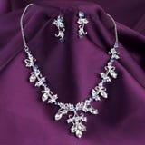 Perfekta nacklace och örhängen Royaltyfria Bilder