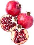 perfekta pomegranates Arkivbild