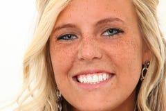 perfekta tänder Arkivfoto